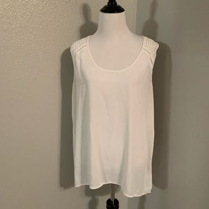 Sheer banana republic large blouse